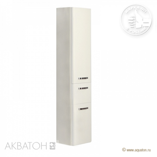 Шкаф-колонна подвесная Акватон Валенсия левая (340х1670мм) белый жемчуг 1A123803VAG3L