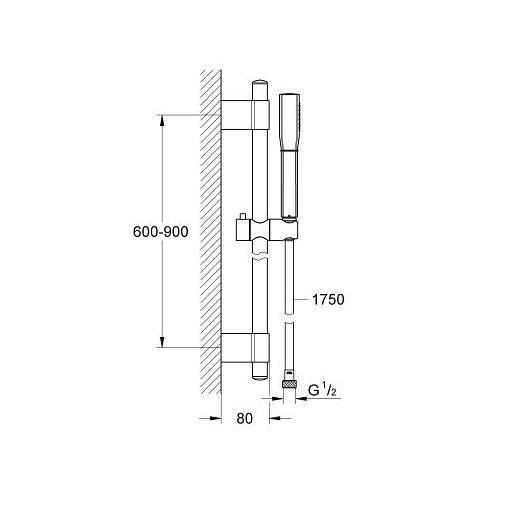 Душевой гарнитур Grohe Grandera Stick 26038IG0