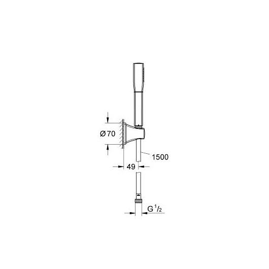 Душевой гарнитур Grohe Grandera Stick 27993000