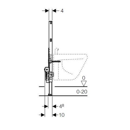 Инсталляция для подвесного биде Geberit Duofix 111.524.00.1 (высота 82 см)