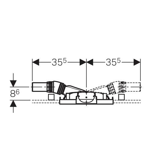 Монтажный элемент для душа Geberit Duofix 111.593.00.1 (пониженная монтажная высота)