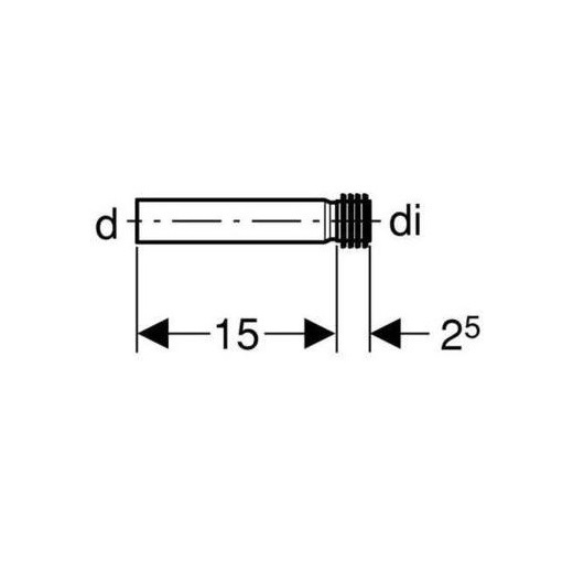 Патрубок Geberit 152.489.16.1 (с манжетой 32 мм)