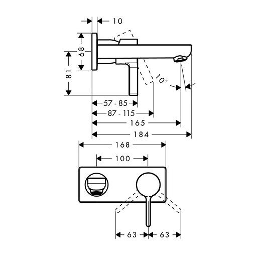 Смеситель для раковины Hansgrohe Metris S 31162000
