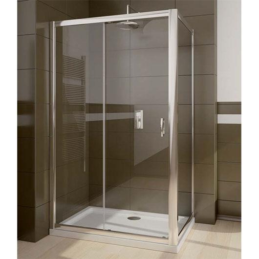 Боковая стенка Radaway Premium Plus S 100 (для Premium Plus DWJ & DWD) профиль хром глянцевый/стекло коричневое 33423-01-08N