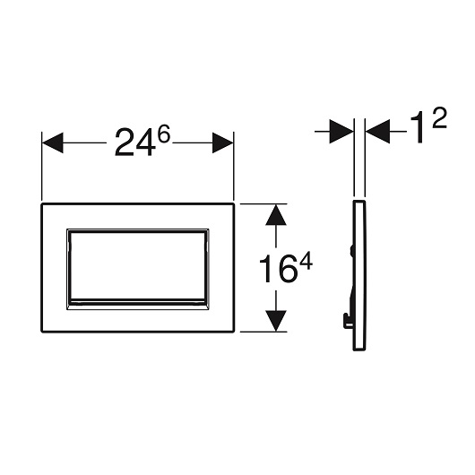 Смывная клавиша Geberit Sigma30 115.893.45.1 (позолота) с креплением на винтах