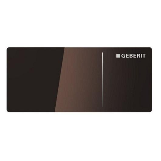 Дистанционная клавиша смыва Geberit Sigma 70 115.635.SQ.1 (стекло коричневое, умбра)