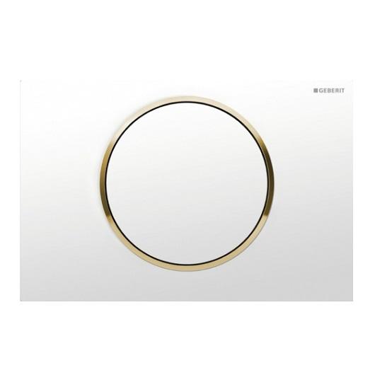 Смывная клавиша Geberit Sigma10 115.758.KK.5 (белый/золото)