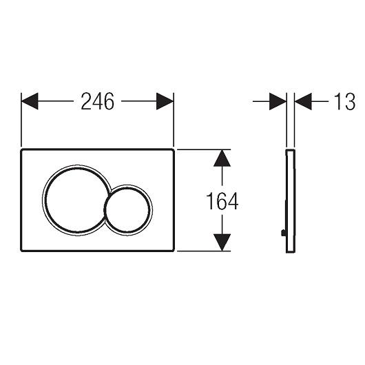 Смывная клавиша Geberit Sigma01 115.770.46.5 (матовый хром)