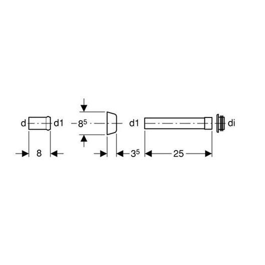 Переходник для колена смыва  Geberit 118.026.21.1 (d 45 мм)