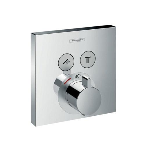 Термостат c двумя запорными вентилями Hansgrohe ShowerSelect 15763000