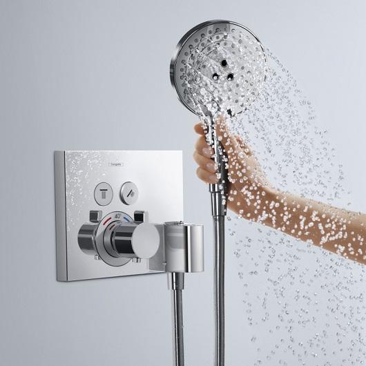 Термостат для 2 потребителей с держателем Hansgrohe ShowerSelect 15765000