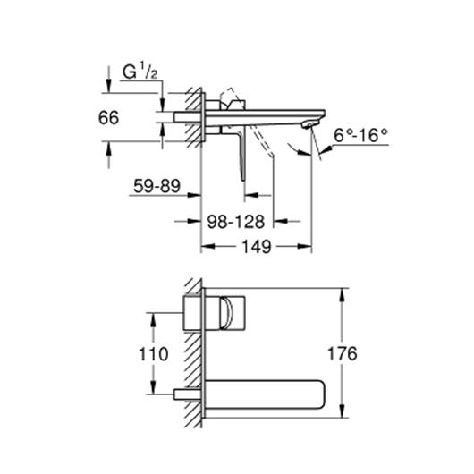 Смеситель для раковины Grohe Lineare New 19409001