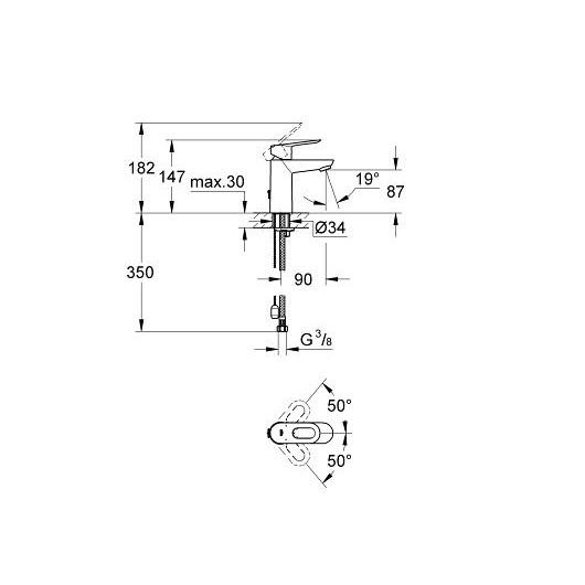 Смеситель для раковины Grohe BauLoop 23336000