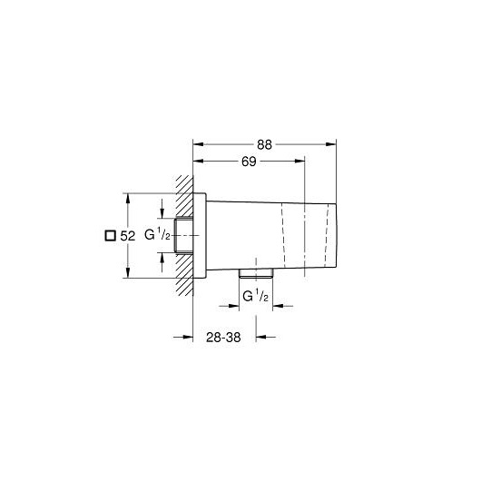 Шланговое подсоединение Grohe Euphoria Cube 26370000