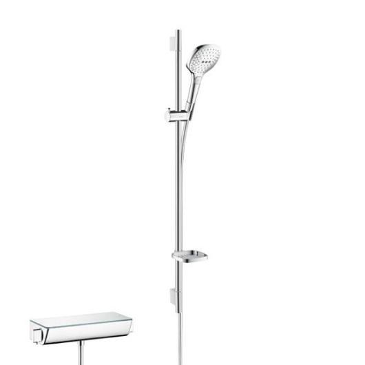 Душевой набор с термостатом Hansgrohe Ecostat Select (белый/хром) 27039400
