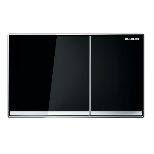Смывная клавиша Geberit Omega60 115.081.SJ.1 (черное стекло)