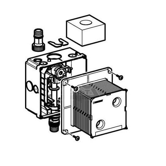 Блок управления смывом писсуара Geberit 116.004.00.1 (штуцер латунный)