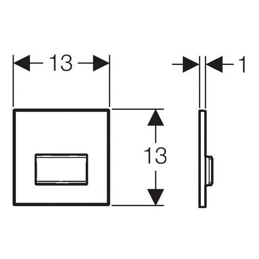 Пневмопривод смыва для писсуара Geberit Sigma50 116.016.GH.5 (Полированный хром)