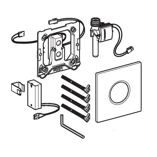 Привод смыва для писсуара Geberit Sigma10 116.035.SN.1 (нерж. сталь, ИК датчик, батарея 1,5 В)