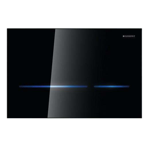Смывная клавиша Geberit Sigma80 116.090.SG.1 (бесконтактная, черное стекло)