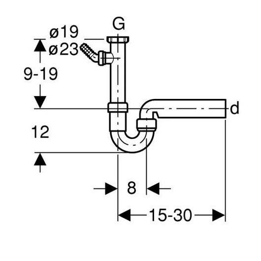 Сифон для кухонной мойки Geberit 152.713.11.1 (1 1/2″, d 40 мм)