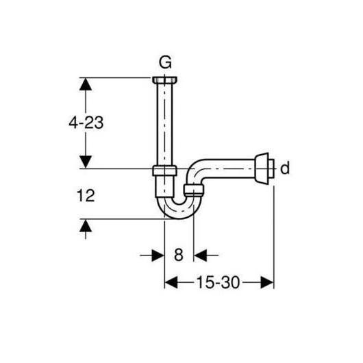 Сифон для кухонной мойки Geberit 152.742.11.1 (1 1/2″, d 40 мм)