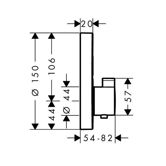 Термостат для 2 потребителей Hansgrohe ShowerSelect S 15743700 (матовый белый)