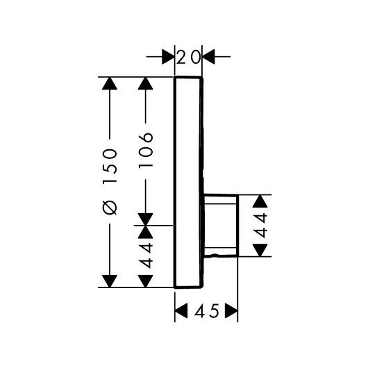 Смеситель для 2 потребителей Hansgrohe ShowerSelect S 15748000