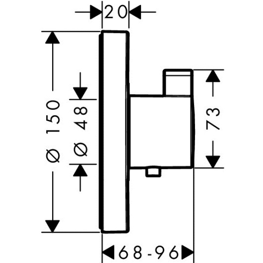 Термостат Hansgrohe ShowerSelect S Highflow 15741000