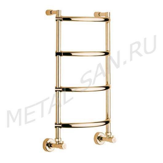 Полотенцесушитель водяной Margaroli Luna 432 (707х425 мм) золото