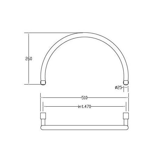 Полотенцесушитель водяной с аркой Margaroli Sole 442 (973х535 мм) хром