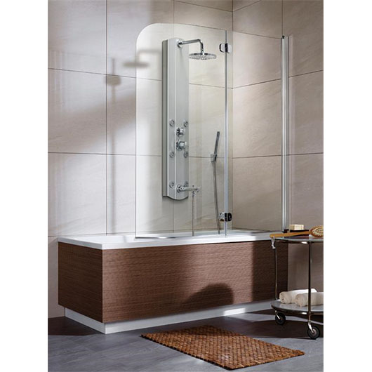 Душевая шторка на ванну Radaway EOS PND правая (1300х1520 мм) профиль хром глянцевый/стекло прозрачное 205202-101R