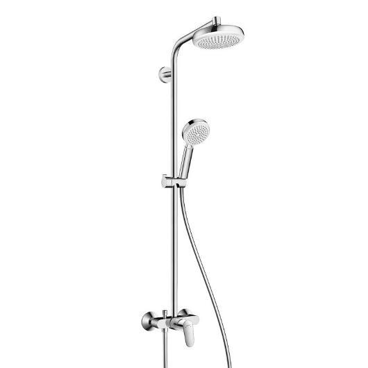 Душевая система Hanshrohe Crometta 160 1jet Showerpipe (белый/хром) 27266400