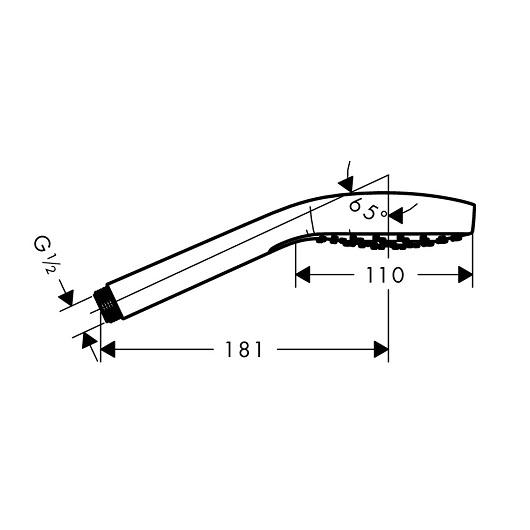 Ручной душ Hansgrohe Croma E 1jet 26814700 (матовый белый)