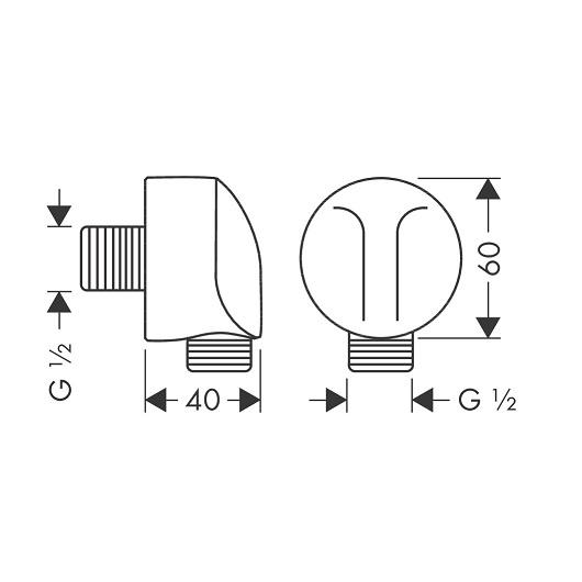 Шланговое подсоединение Hansgrohe Fixfit E 27454700 (матовый белый)
