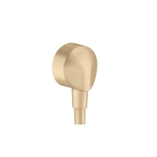 Шланговое подсоединение Hansgrohe Fixfit E 27454140 (шлифованная бронза)