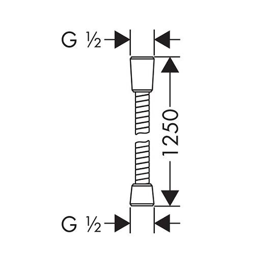 Душевой шланг Hansgrohe Sensoflex 28132000 (1250 мм)