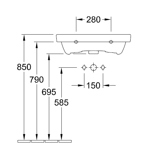 Раковина Villeroy & Boch Avento 4158 60 R1 (415860R1) CeramicPlus (600х470 мм)