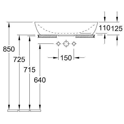 Раковина накладная Villeroy & Boch Artis 4198 61 R1 (419861R1) CeramicPlus (610х410 мм)