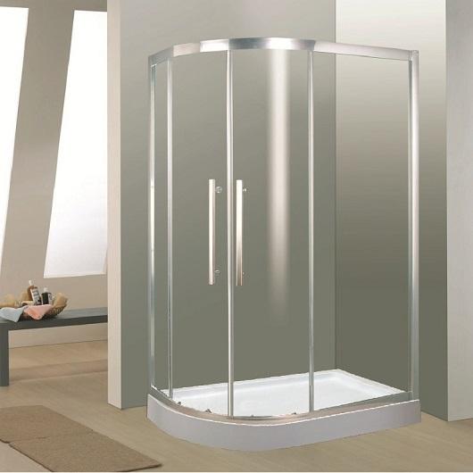 Душевой угол Timo BY-549 R (1200х800 мм) правый с поддоном, стекло прозрачное