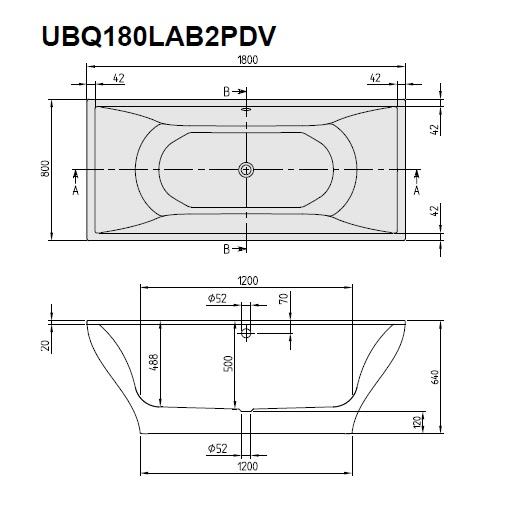 Ванна квариловая Villeroy & Boch La Belle 180х80 UBQ180LAB2PDV-01 (белый Alpin)