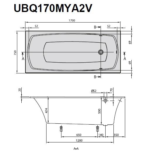 Ванна квариловая Villeroy & Boch My Art 170х75 UBQ170MYA2V-01 (белый Alpin)