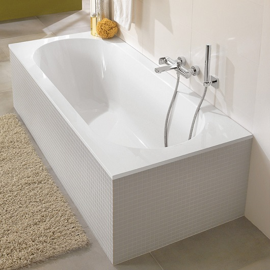 Ванна квариловая Villeroy & Boch Oberon 160х75 UBQ160OBE2V-01 (белый alpin)