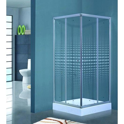 Душевой угол с поддоном Timo VIVA Lux TL-1102 Romb (1000х1000 мм) стекло прозрачное, с декором