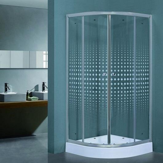 Душевой угол с поддоном Timo BIONA Lux TL-1101 Romb (1000х1000 мм) стекло прозрачное, с декором