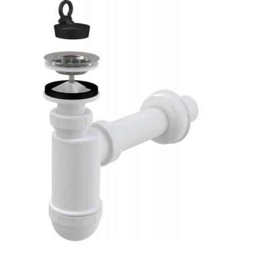 Сифон для раковины AlcaPlast A410 DN32 (белый)
