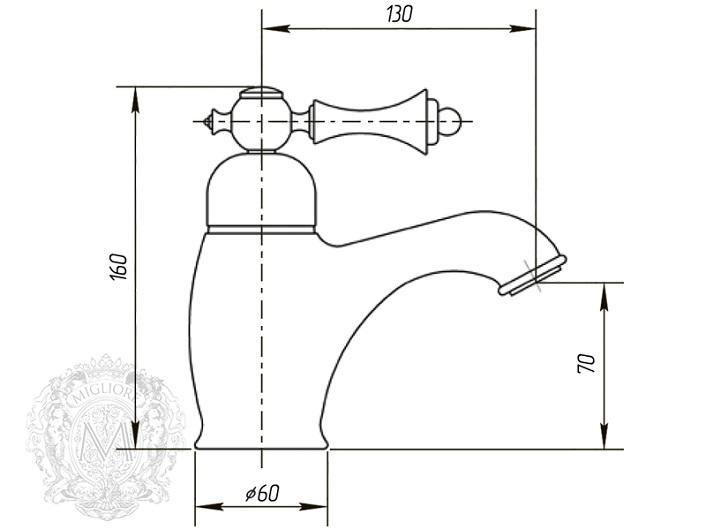 Смеситель для раковины Migliore Bomond 26869 (ML.BMD-9713.BR) (бронза)