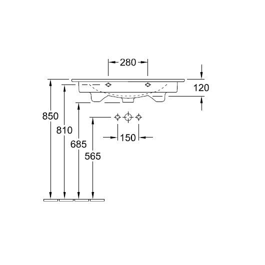 Раковина Villeroy & Boch Venticello 4104 8L R1 (41048LR1) CeramicPlus (800х500 мм)