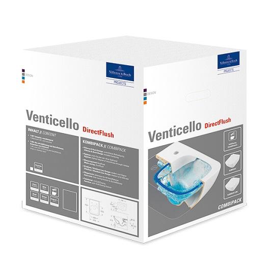 Унитаз подвесной Villeroy & Boch Venticello 4611 RL 01 (4611RL01) без смывного обода