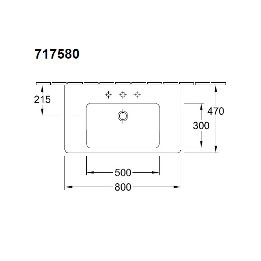 Раковина мебельная Villeroy & Boch Subway 2.0 7175 80 01 (71758001) (800х470 мм)